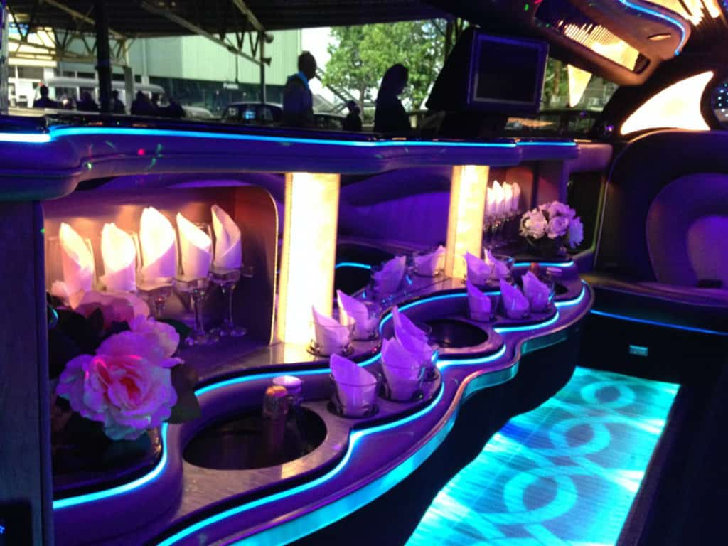 Stylish Limousine Interior  car hire Melbourne