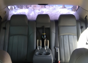Wedding car hire with stylish interior
