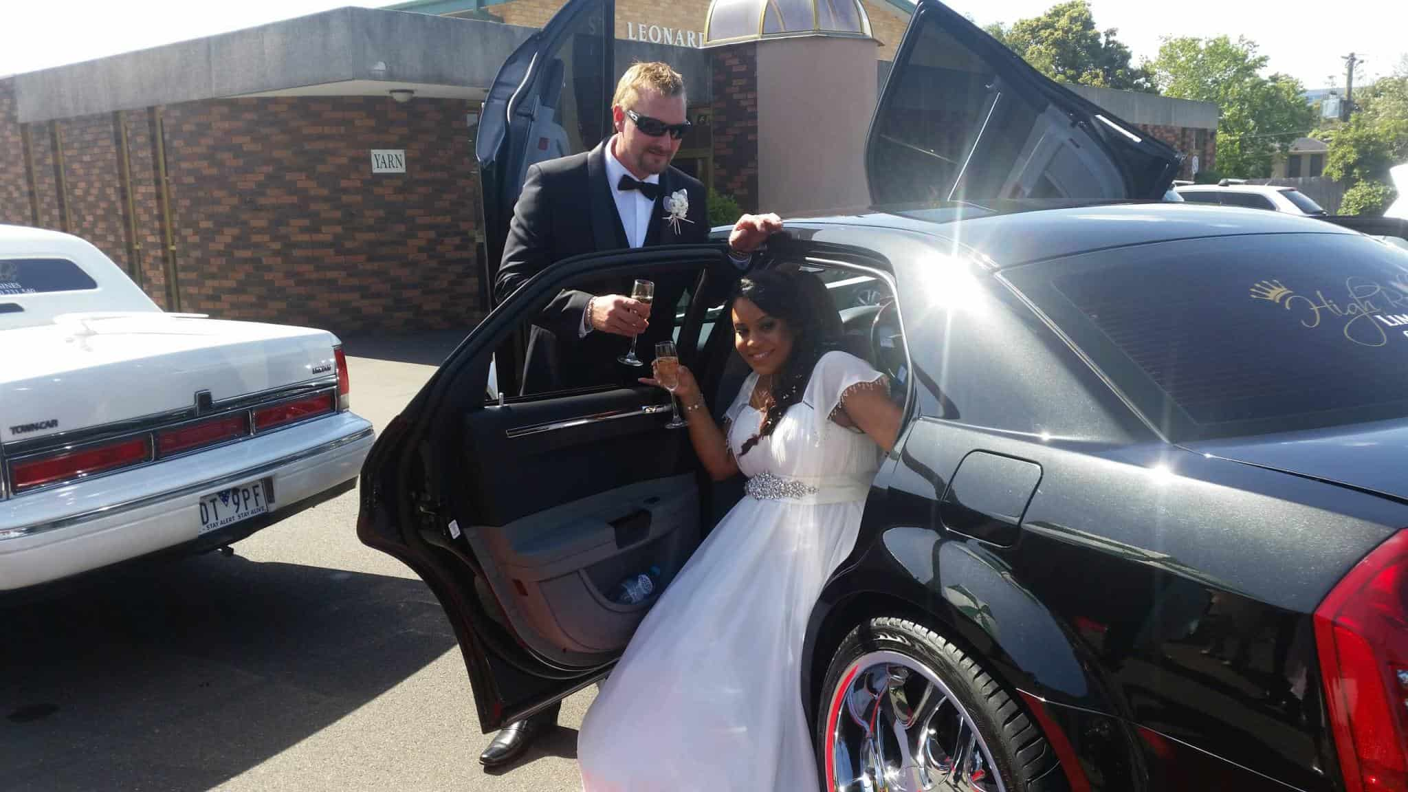 stylish wedding car hire Melbourne
