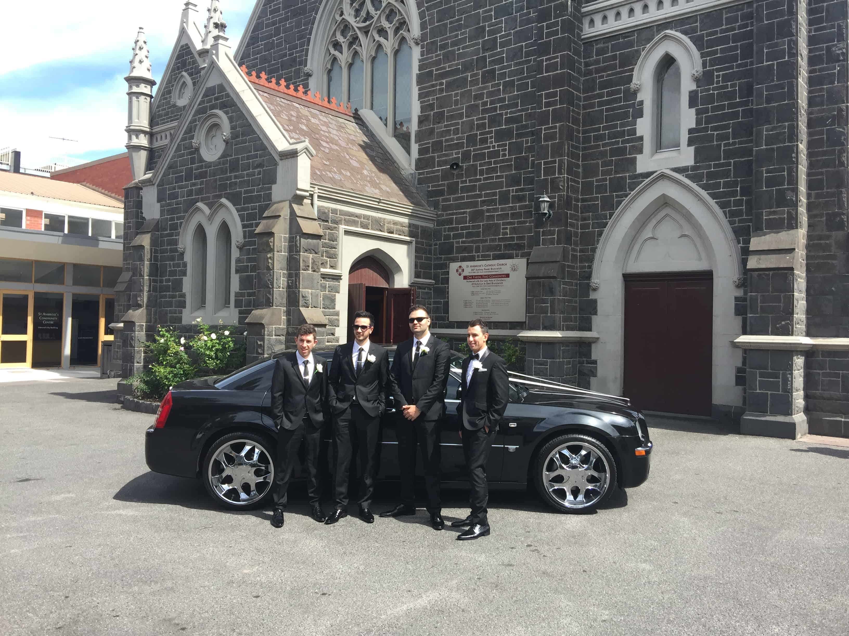 Grooms Party wedding car hire